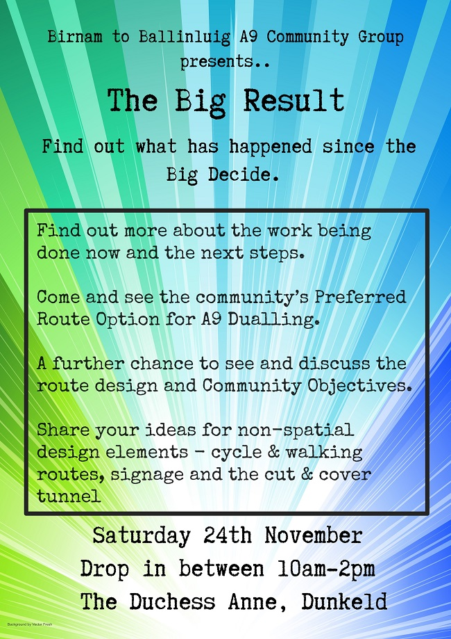 Big Result event poster